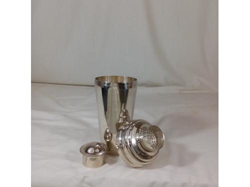 Ancien shaker en métal argenté poinconné